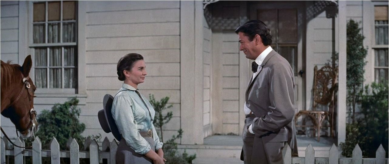 Jean Simmons e Gregory Peck