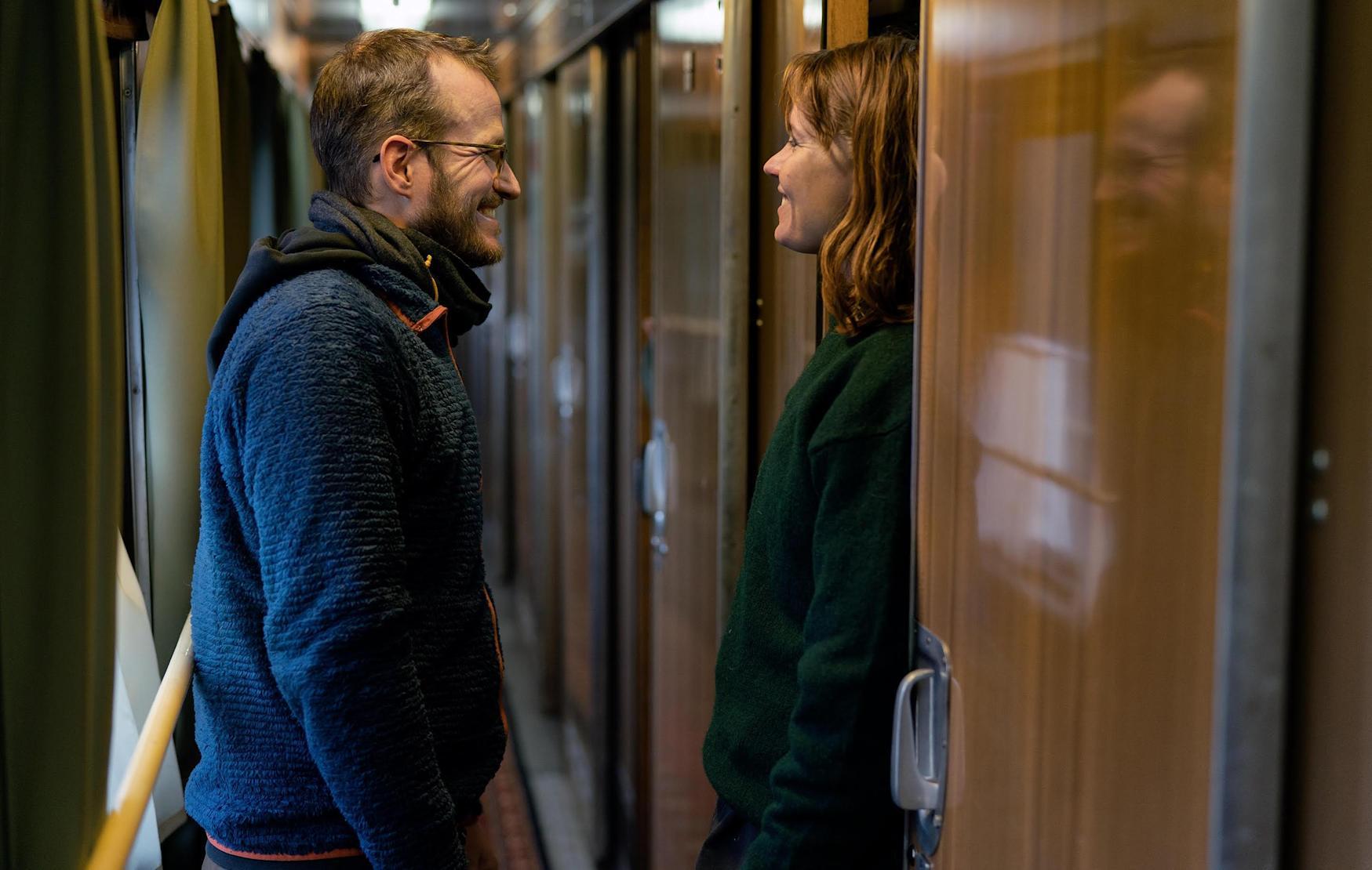Il regista Juho Kuosmanen con Seidi Haarla