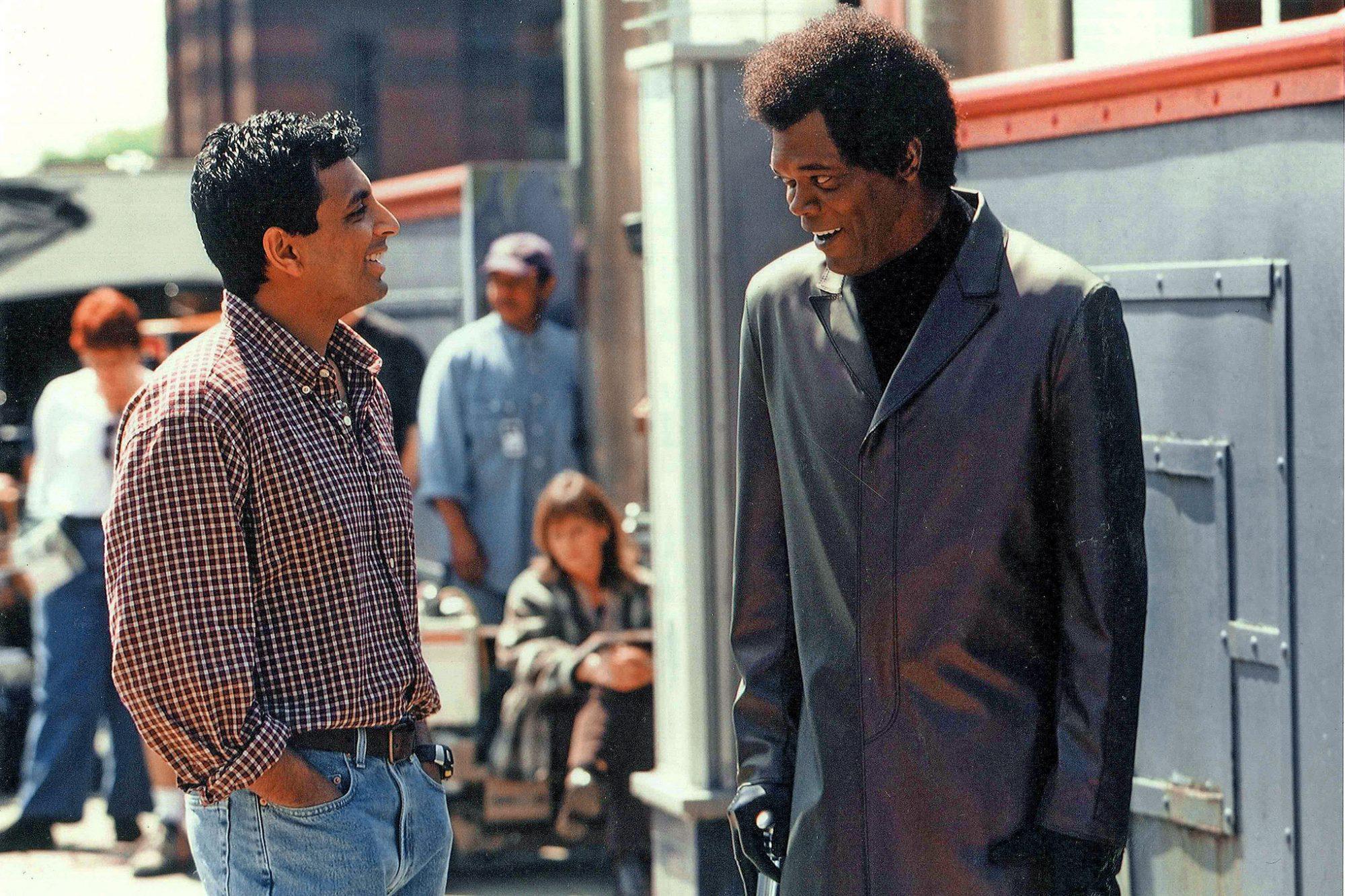 M.NightShyamalan e Samuel L. Jackson in Unbreakable