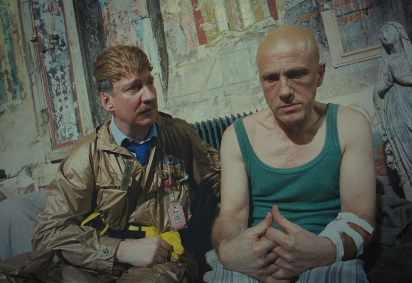 David Thewlis e Christoph Waltz in The Zero Theorem di Terry Gilliam