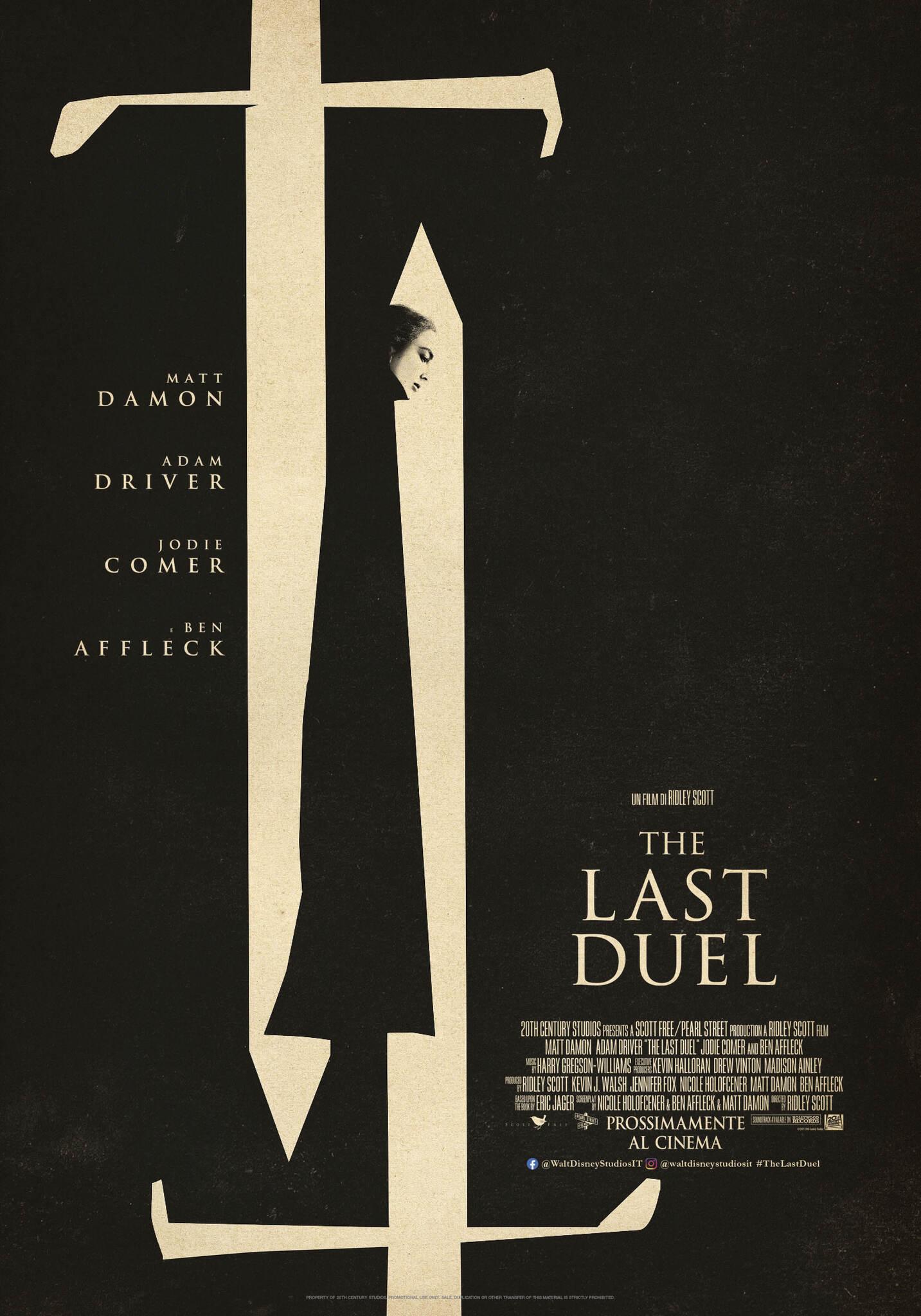The Last Duel: il poster del film di Ridley Scott