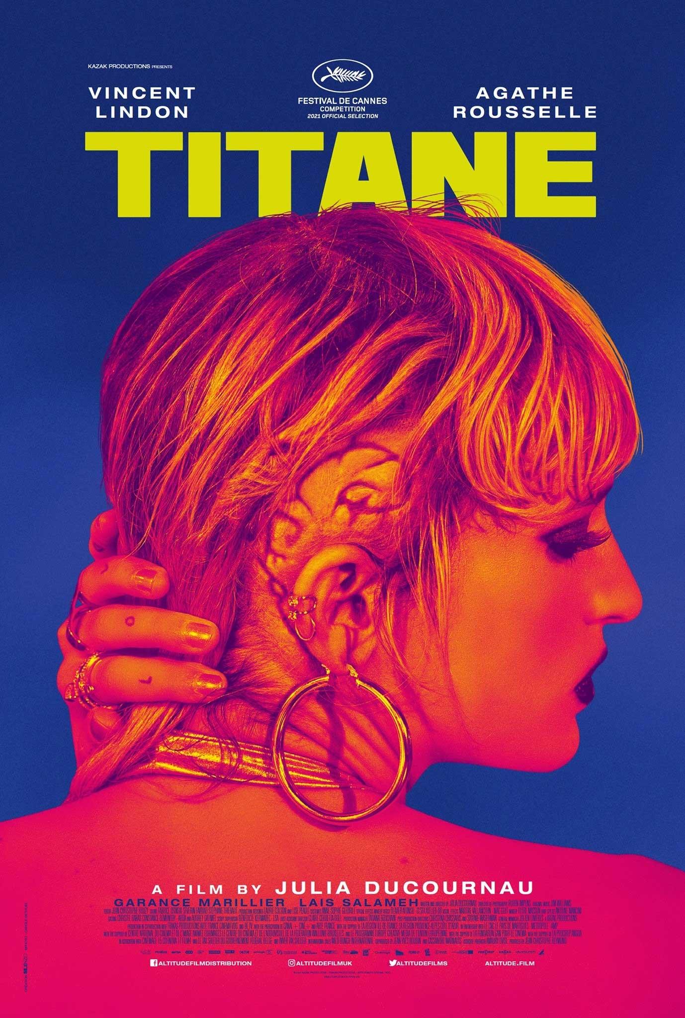 Titane di Julia Ducournau: il poster del film vincitore della Palma d'Oro al Festival di Cannes 74