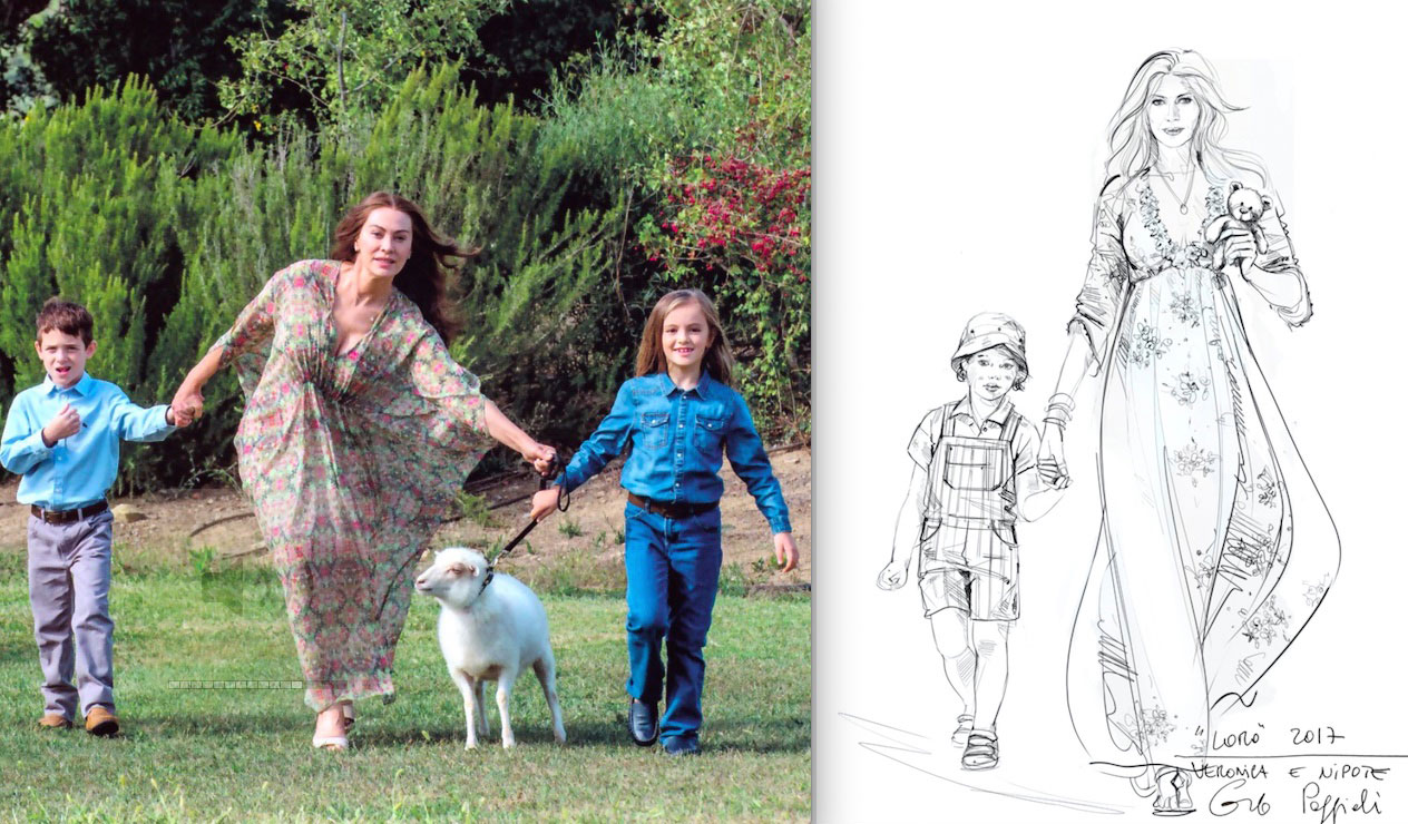 I disegni dei costumi di Carlo Poggioli per Loro di Paolo Sorrentino
