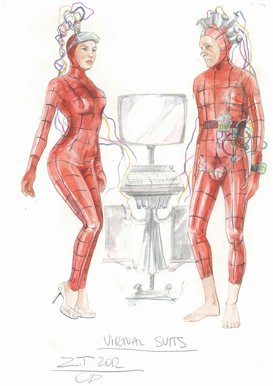 I disegni dei costumi di Carlo Poggioli per The Zero Theorem di Terry Gilliam
