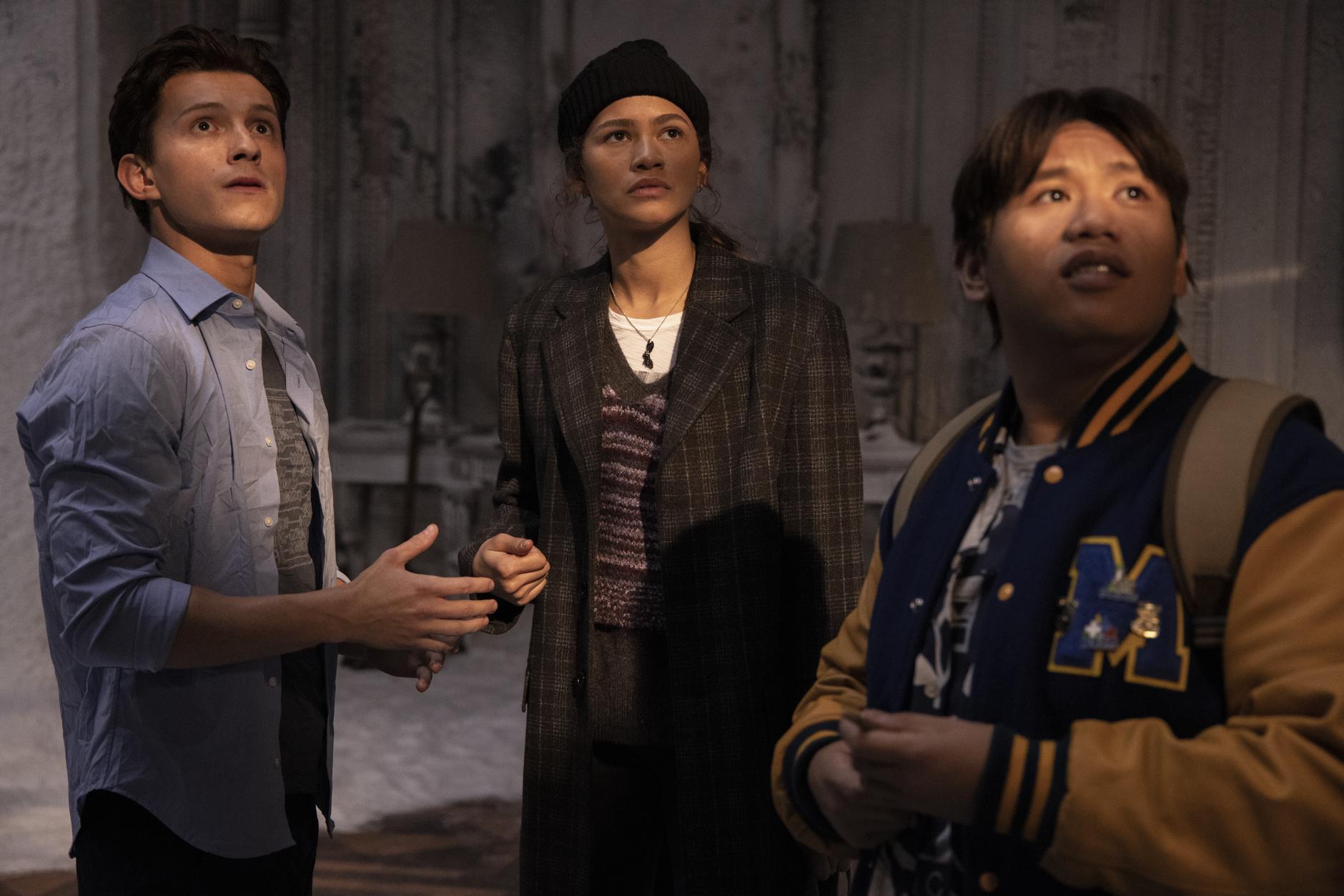 Tom Holland, Zendaya e Jacob Batalon