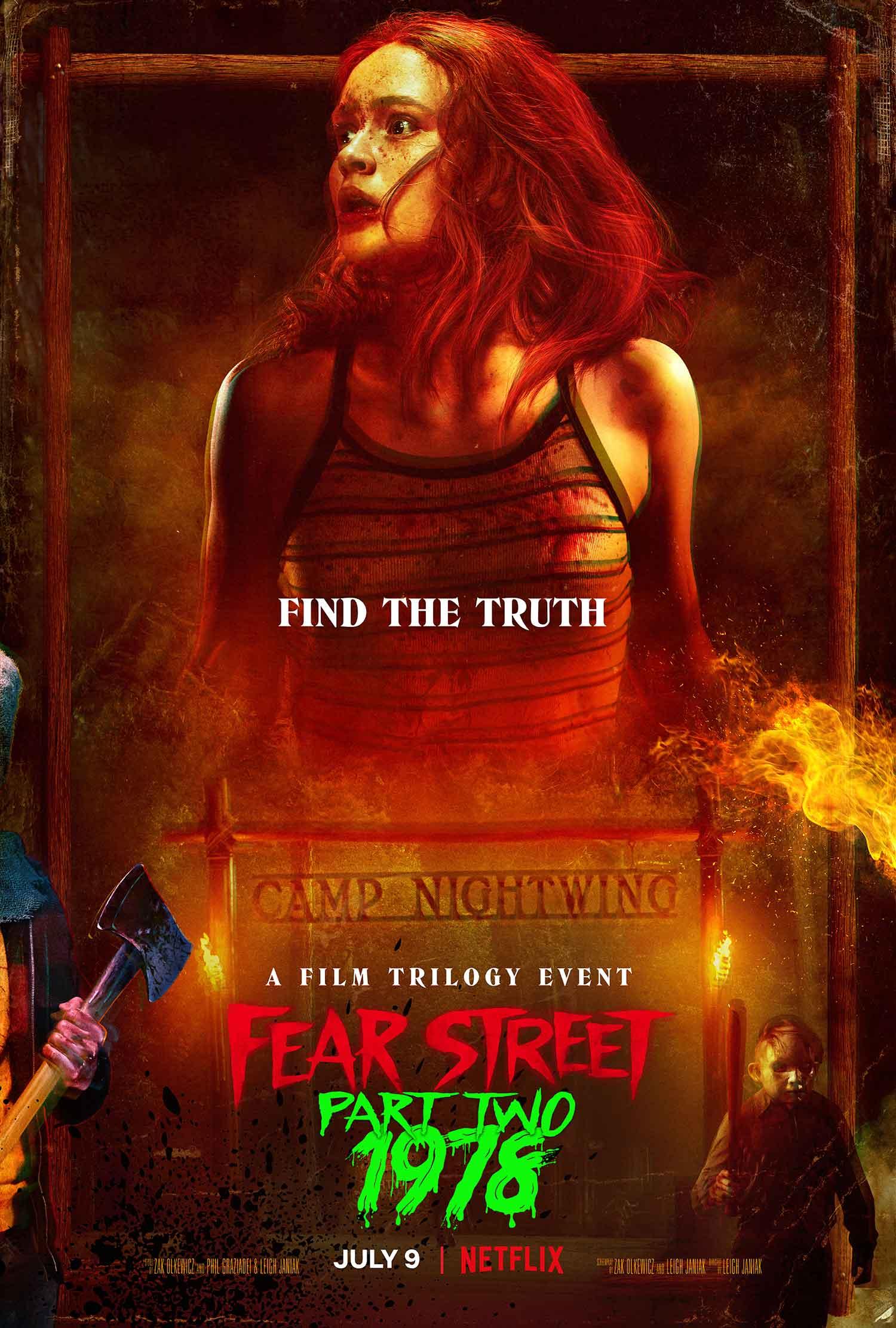 Fear Street Parte 2: 1978 il poster del film Netflix