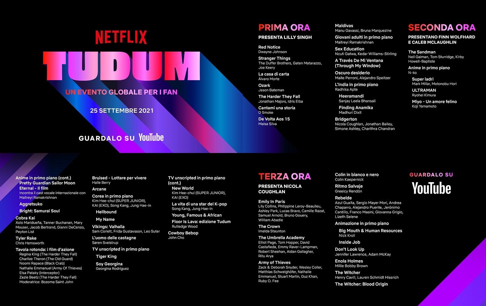 TUDUM Netflix: il programma i trailer e le anteprime dell'evento globale