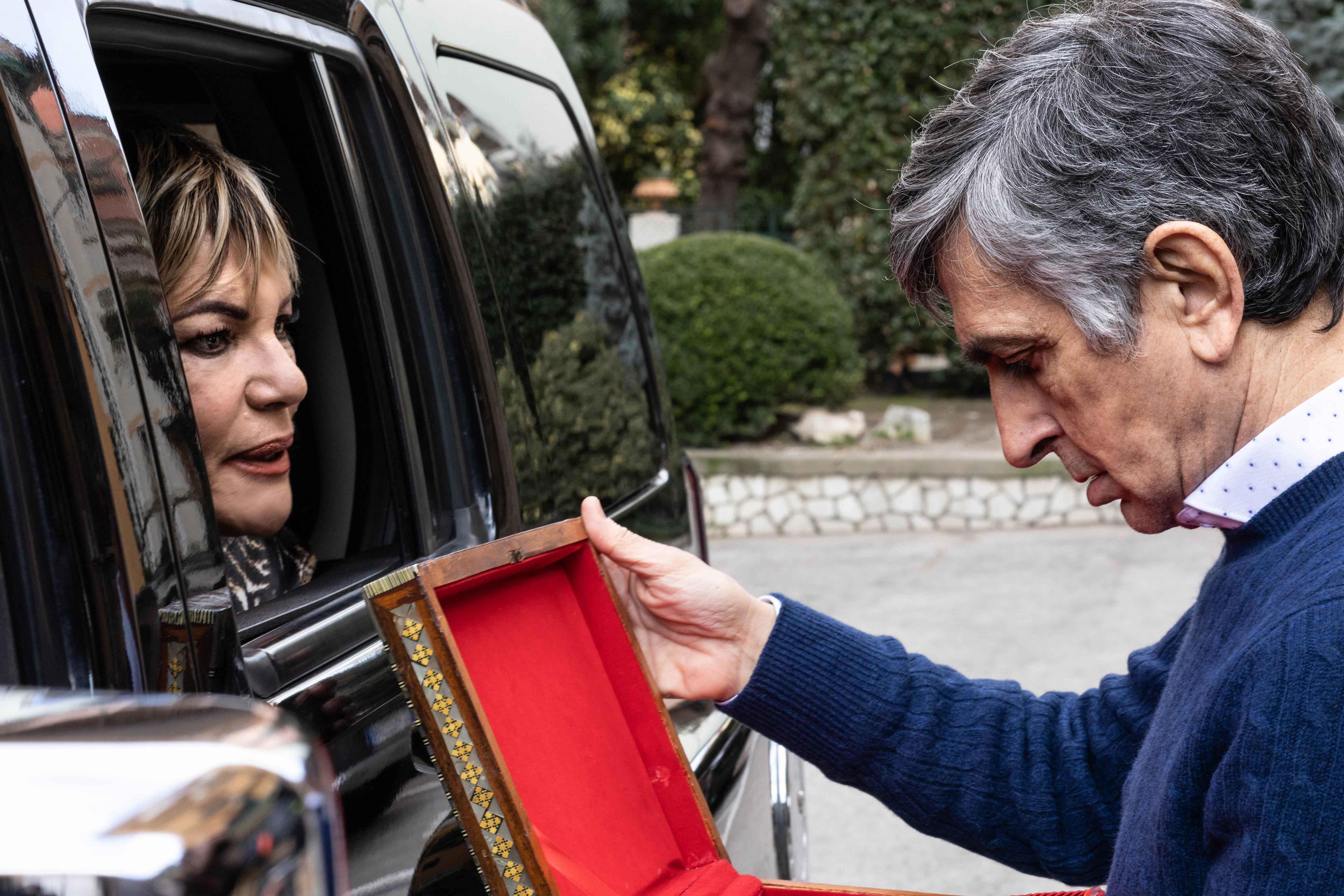Cristina Donadio e Vincenzo Salemme