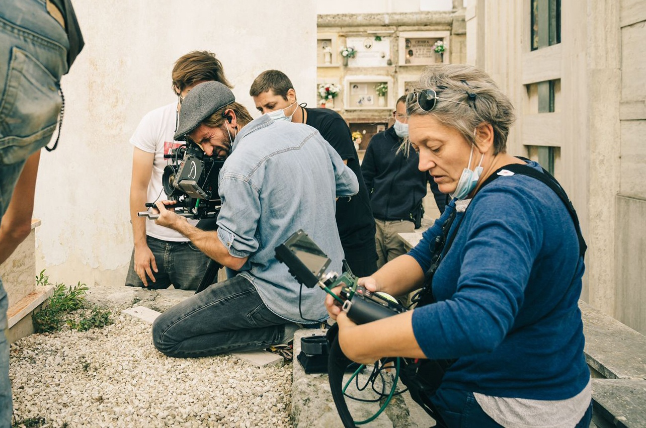 Il direttore della fotografia Giuseppe Maio sul set di Mondocane